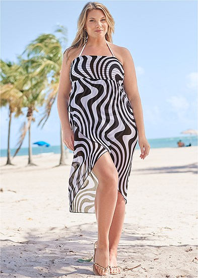 Plus Size Convertible Cover-Up Dress