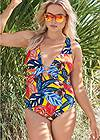 Cropped Front View Crisscross One-Piece