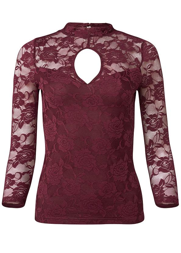 Alternate View Lace Keyhole Top