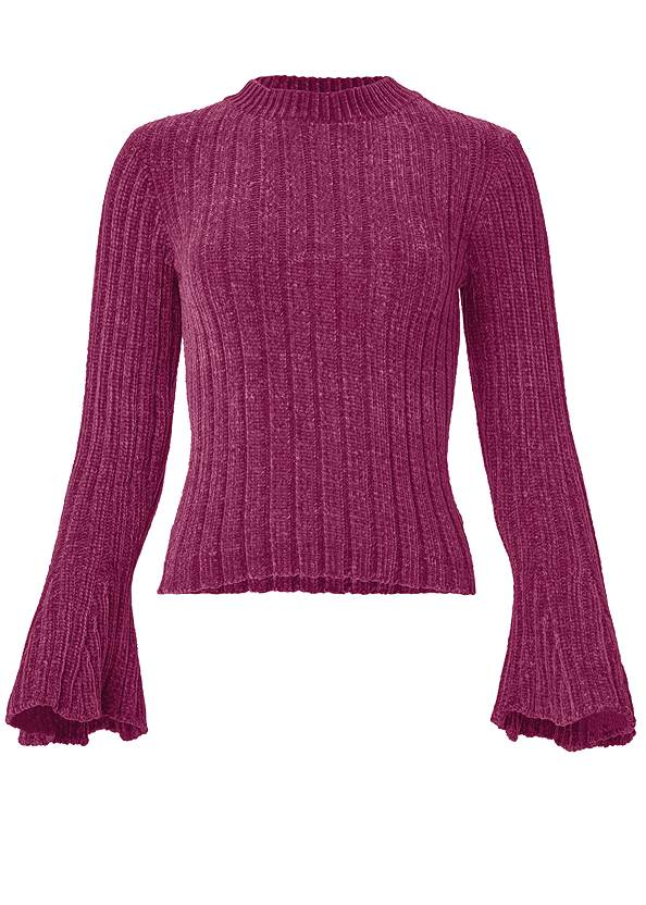 Alternate View Chenille Bell Sleeve Sweater