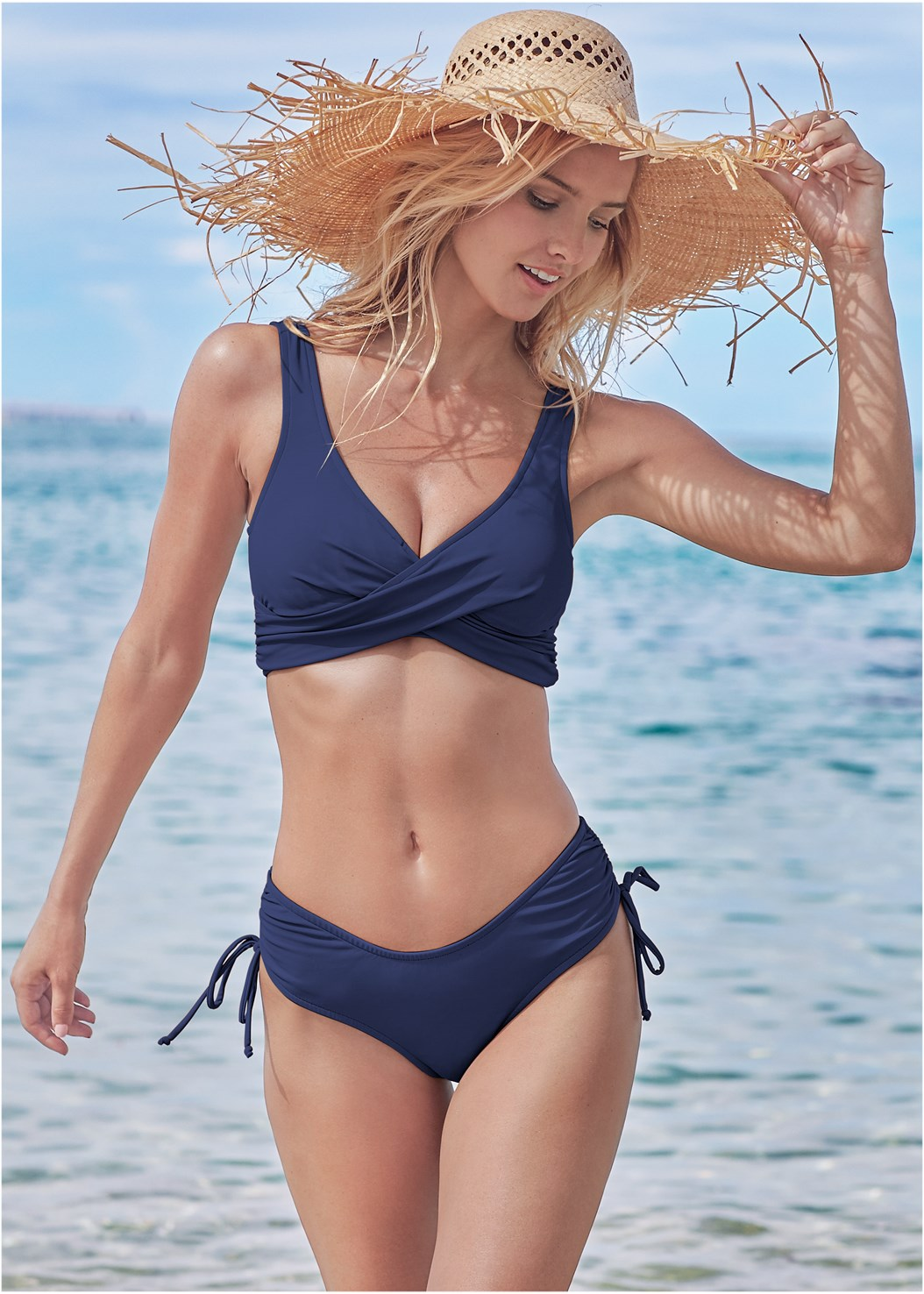The Magnolia Moderate Bottom,Lovely Lift Wrap Bikini Top,Marilyn Underwire Push Up Halter Top,Underwire Wrap Top