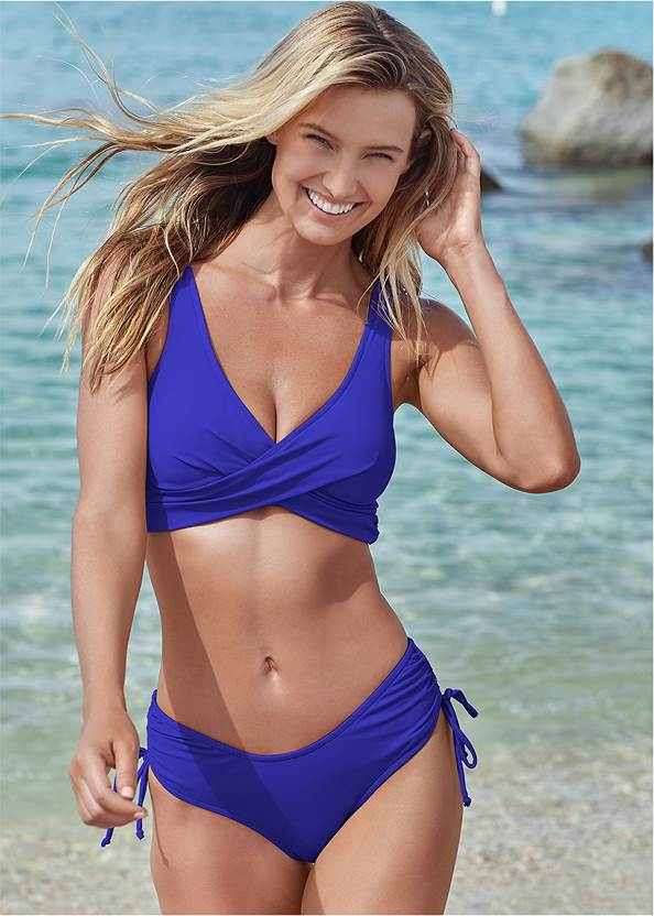 The Magnolia Moderate Bottom,Lovely Lift Wrap Bikini Top,Marilyn Underwire Push Up Halter Top,Jillian Underwire Top,Nikki Bralette Top,Bold Triangle Bikini Top,Ring Front Dolman Cover-Up