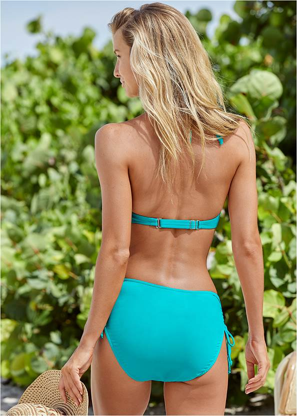 Full back view Marilyn Underwire Push Up Halter Top