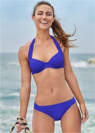 Full front view Banded Moderate Swim Bottom