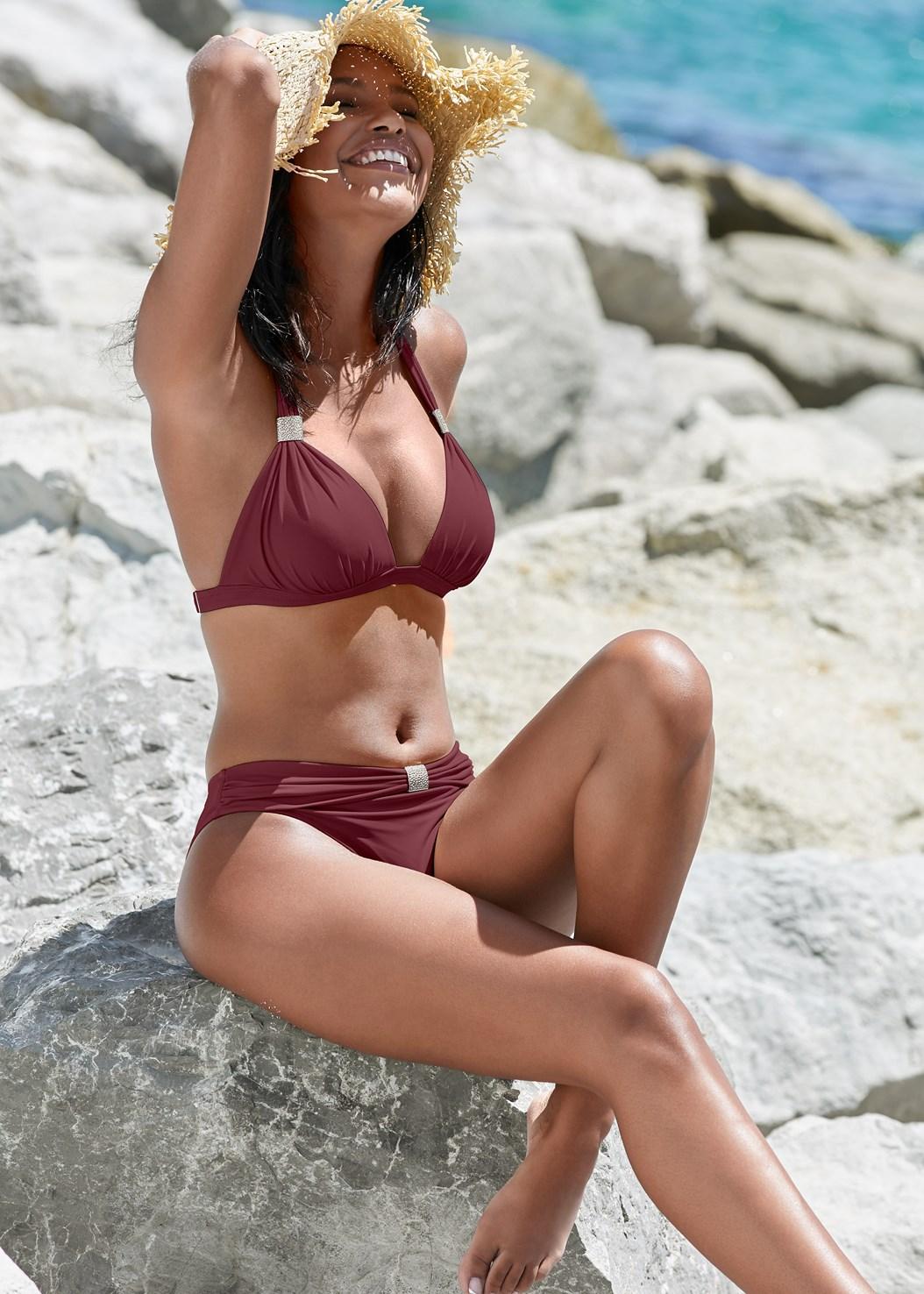 Goddess Midrise Bottom,Goddess Enhancer Push Up Halter Top,Triangle String Bikini Top,Lovely Lift Wrap Bikini Top