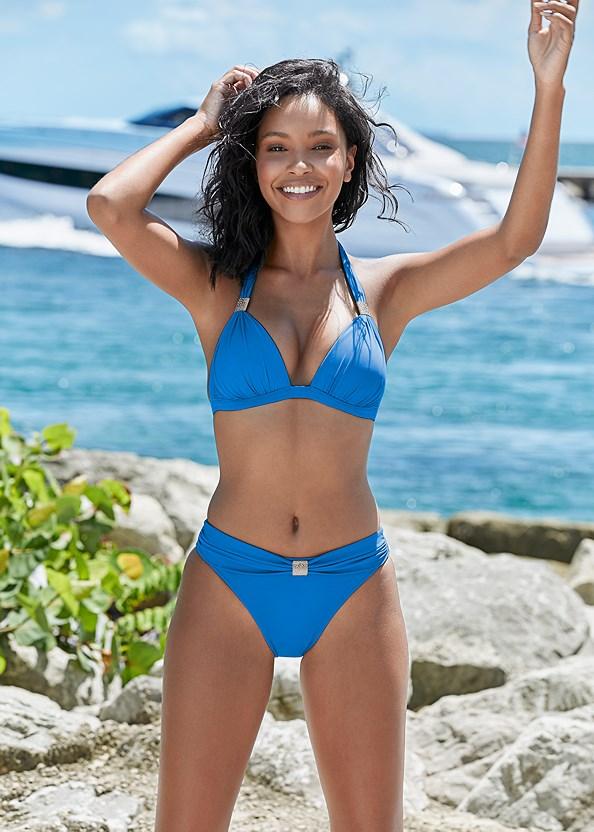 Goddess Mid Rise Bottom,Goddess Enhancer Push Up Halter Top,Lovely Lift Wrap Bikini Top,Triangle String Bikini Top