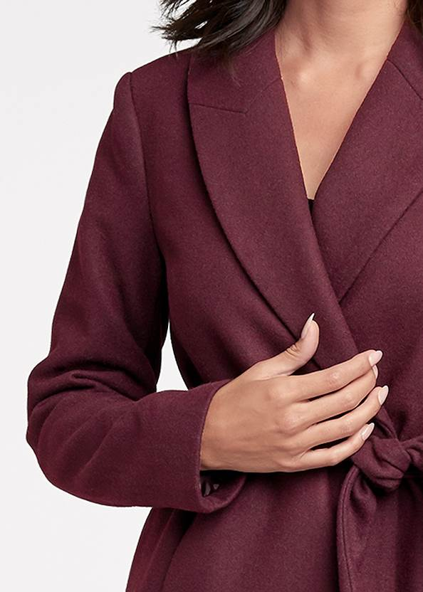 Alternate View Belted Faux Wool Coat
