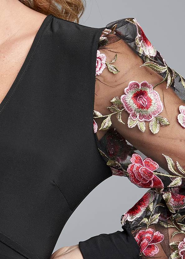 Alternate View Embroidered Sleeve Top