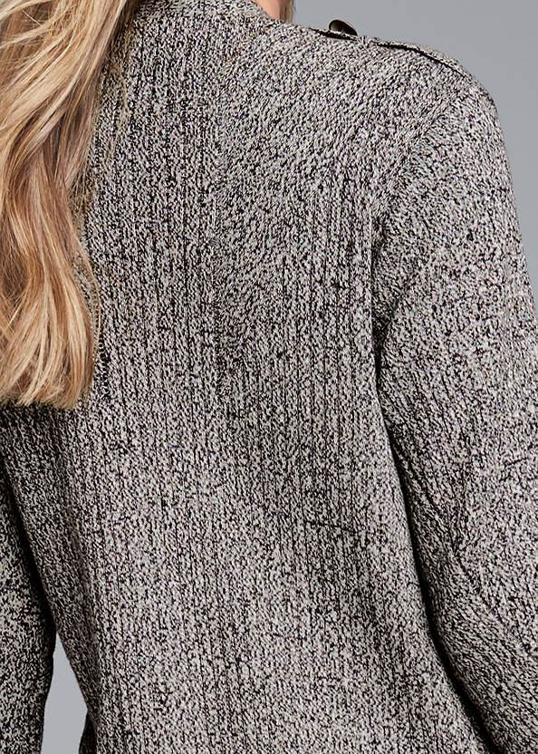 Detail back view Devka Marled Cozy Duster