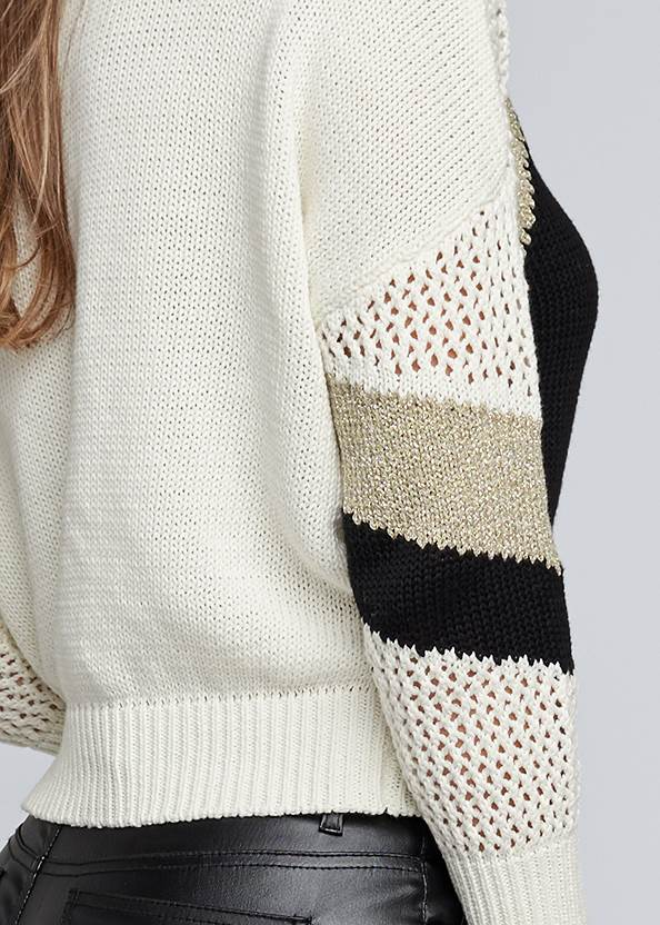 Detail back view Open Knit Detail Sweater