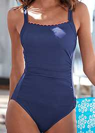 Alternate View Scalloped One-Piece