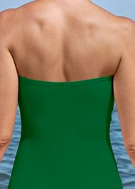 Alternate View Slimming Bandeau One-Piece