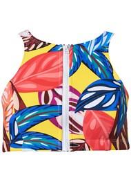 Alternate View High Neck Zip Up Bikini Top