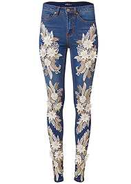 Alternate View Floral Applique Skinny Jean