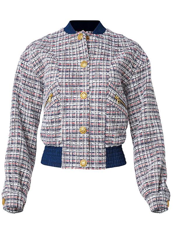 Ghost with background  view Tweed Bomber Jacket