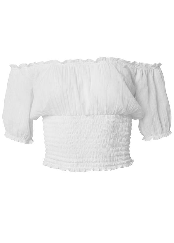 Alternate View Crop Top Cover-Up
