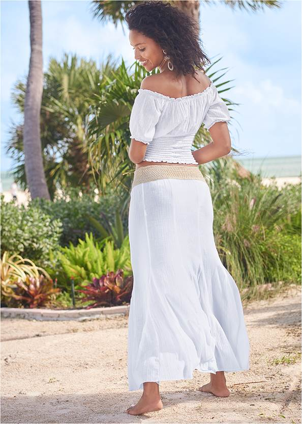 Back View Crop Top Cover-Up