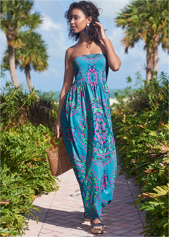 Maxi Dress,Mid Rise Bikini Bottom,Grommet Lace Up One-Piece,Wooden Handbag