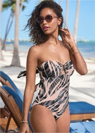 Front View Bandeau Ring One-Piece