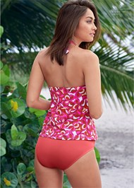 Back View Bandeau Tankini Set