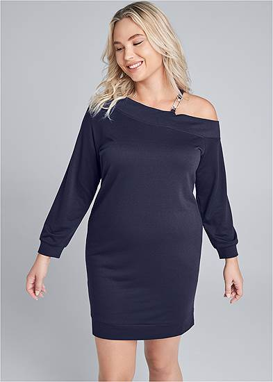 Plus Size Jewel Link Strap Lounge Dress
