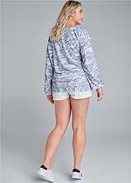 Back View Camo Lace Up Sweatshirt