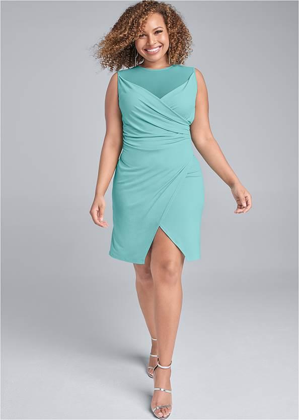 Alternate View Faux Wrap Dress