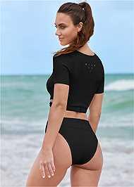 Full back view Comfort Shaping High Leg Bottoms