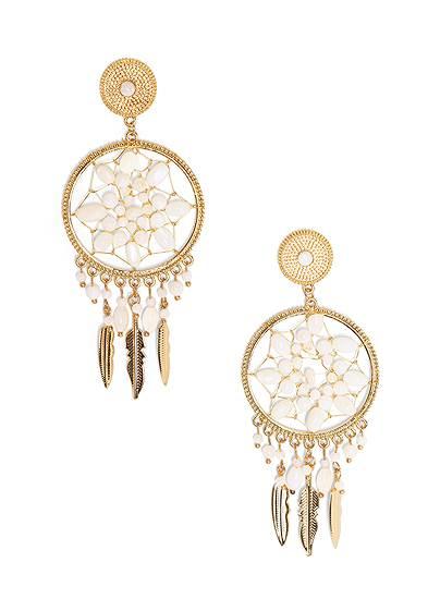 Beaded Dreamcatcher Earrings