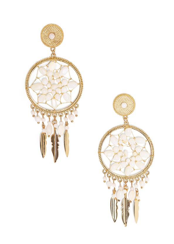 Beaded Dreamcatcher Earrings,V-Neck Side Wrap Mini Dress