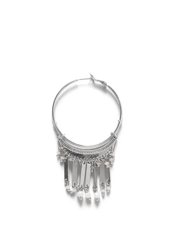 Detail  view Tassel Hoop Earrings