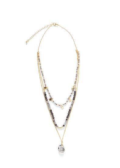 Stars Stones Layered Necklace