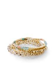 Flatshot  view Stackable Beaded Bracelet