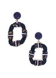 Flatshot  view Beaded Rope Earrings