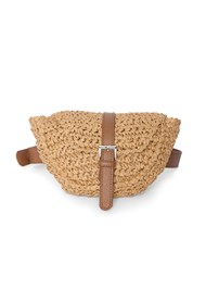 Flatshot front view Straw Belt Bag