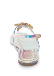 Back View Rhinestone Medallion Sandal