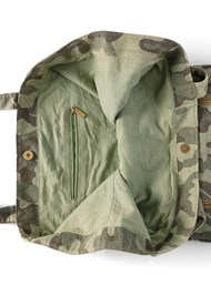 Flatshot open view Beaded Wings Tote Bag