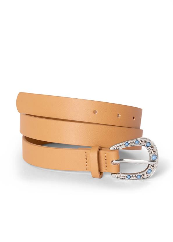 Detail  view Turquoise Buckle Belt