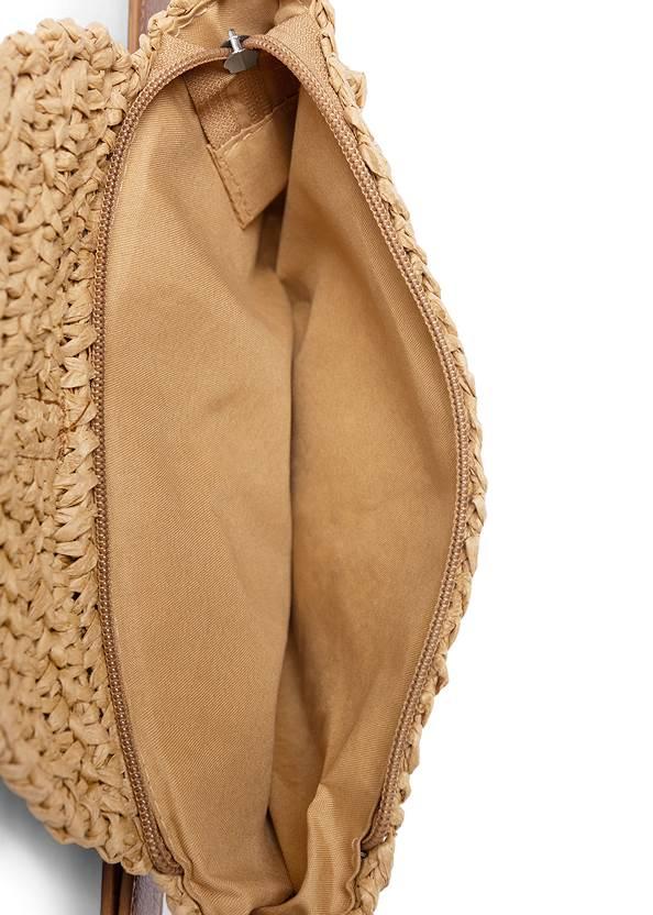 Flatshot open view Straw Belt Bag