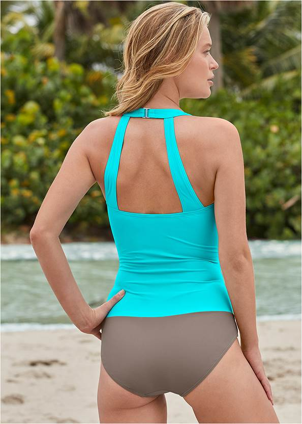 Back View Slimming Ruched One-Piece
