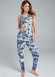Full Front View Printed Sleep Jogger