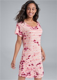 Cropped Front View Printed Sleep Dress