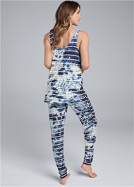 Full back view Printed Sleep Jogger