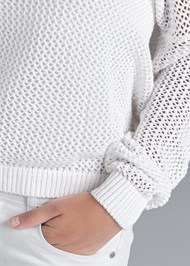 Alternate View Relaxed Open Knit Sweater