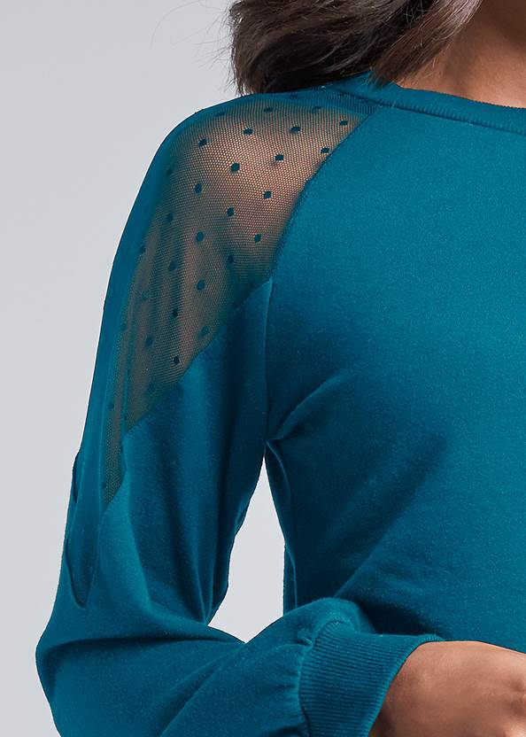 Alternate View Polka Dot Mesh Sweatshirt