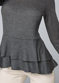 Detail front view Casual Waffle Top