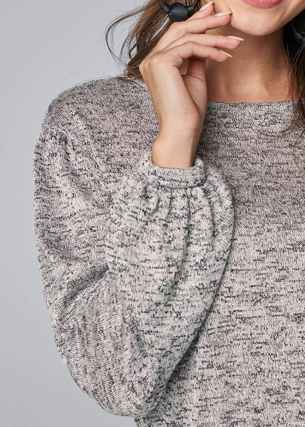 Detail front view Casual Twofer Top