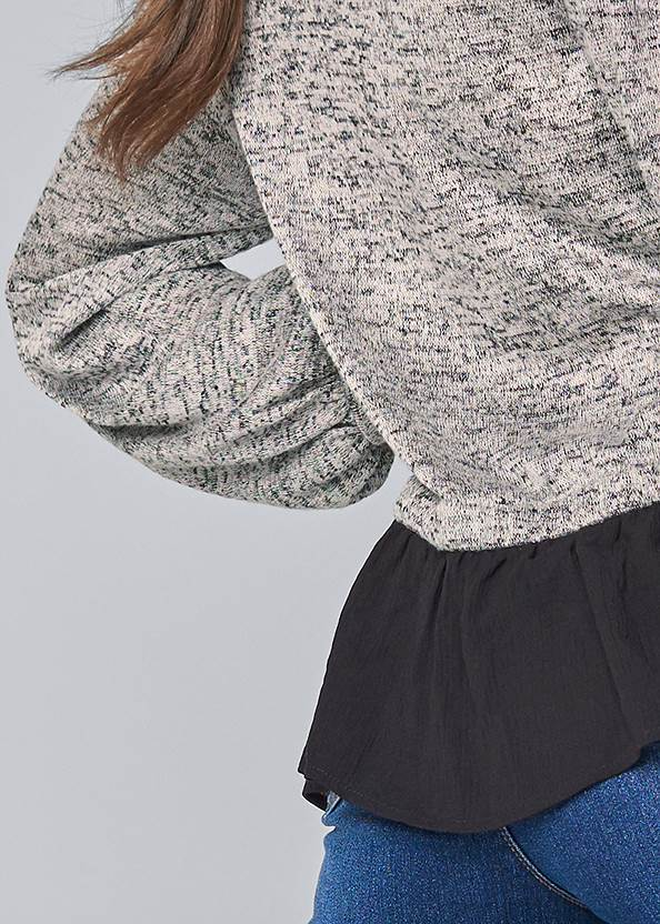 Detail back view Casual Twofer Top