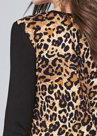 Detail back view Leopard Print Sequin Top