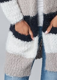 Alternate View Cozy Striped Cardigan